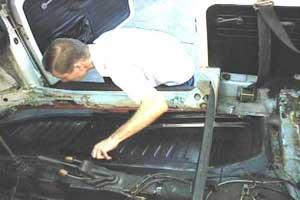 Classic VW Beetle Bug Chassis Pan Floor Panel Repair Floorpan Edge Front LEFT